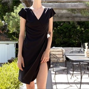 Vintage 90s black wrap dress
